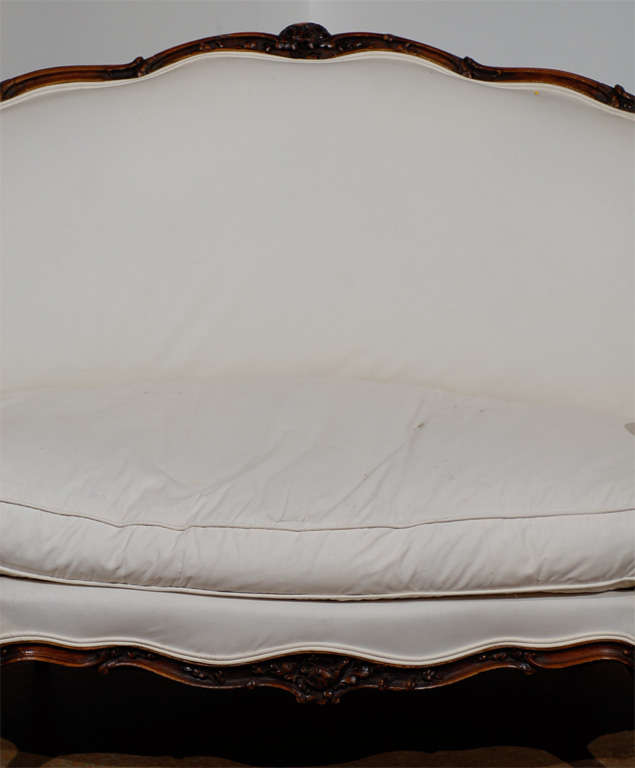 19th Century French Louis XV Style Canape in Walnut 4