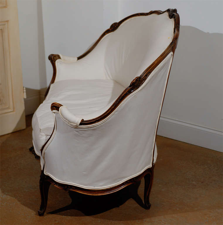 19th Century French Louis XV Style Canape in Walnut 9