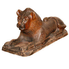 Stone Glazed Lion Figure