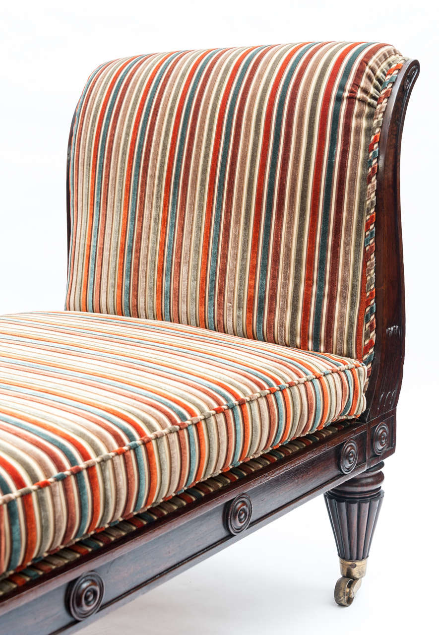 Regency rosewood day bed chaise longue at 1stdibs for Chaise longue day bed