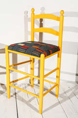Ladder Back Counter Stools with Vintage African Fabric Seats image 6