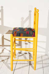 Ladder Back Counter Stools with Vintage African Fabric Seats image 7