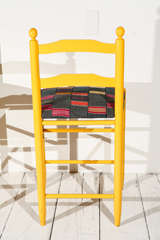 Ladder Back Counter Stools with Vintage African Fabric Seats image 9