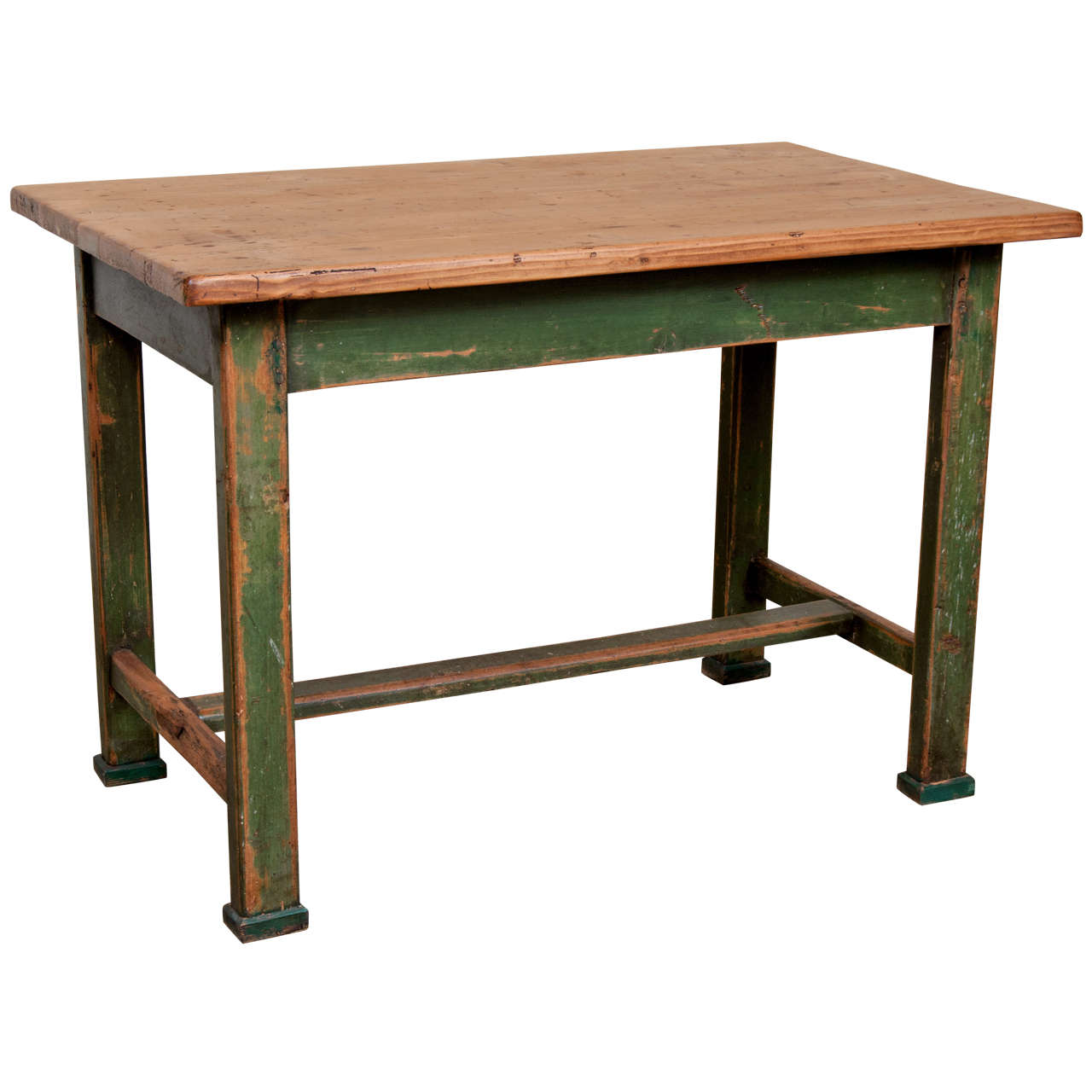 Painted Pine Table At 1stdibs