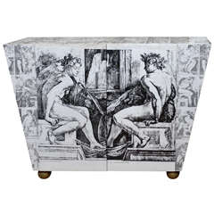 Neoclassical Decoupage Cabinet