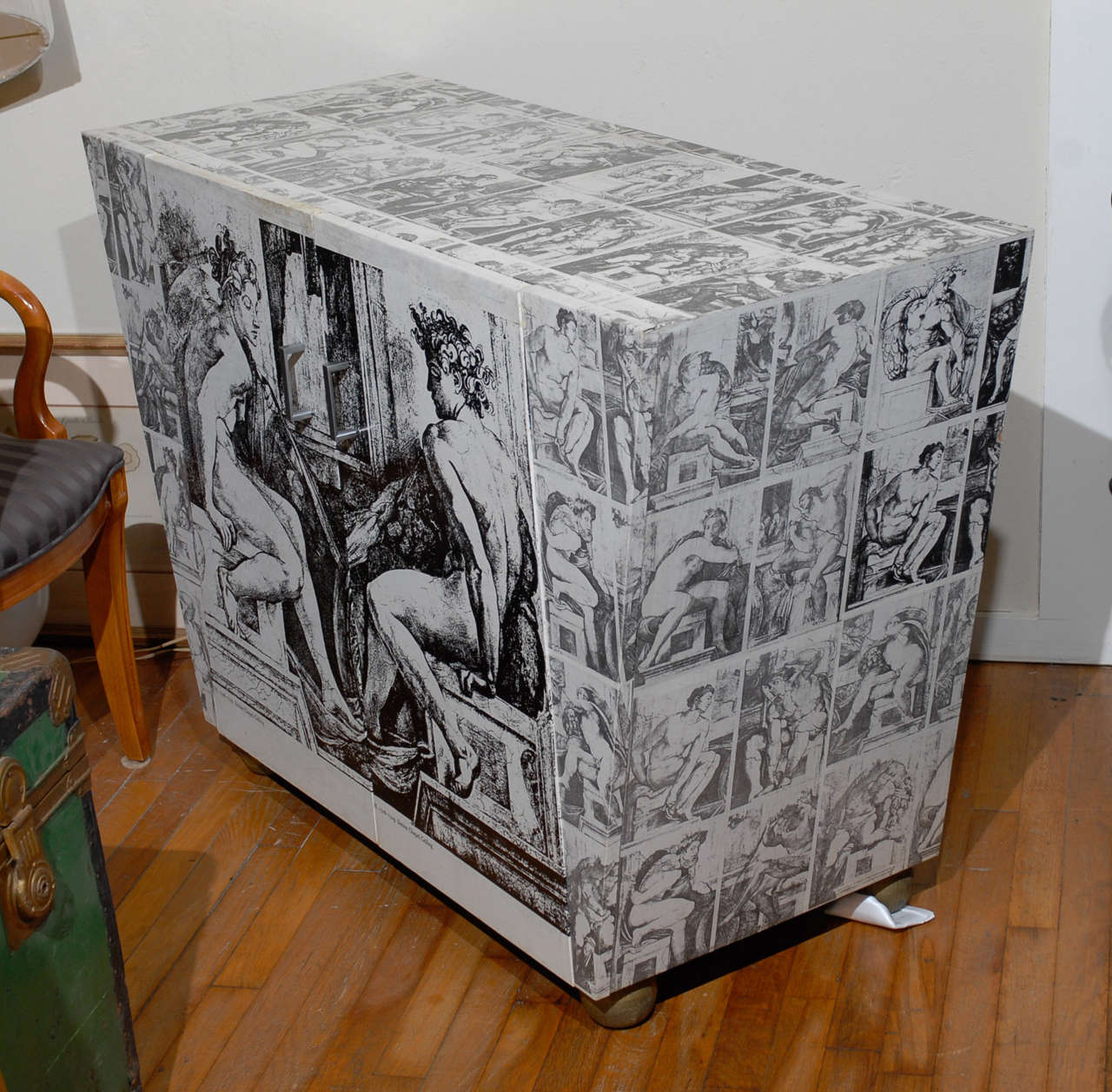 Neoclassical Decoupage Cabinet at 1stdibs
