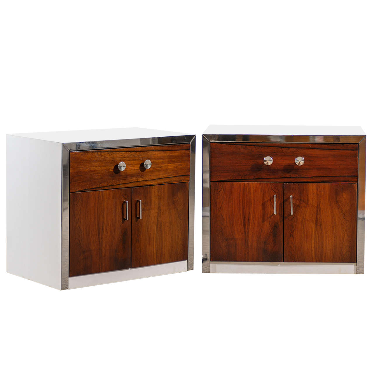 Handsome Pair of Modern End Table/Night Stands by John Stuart
