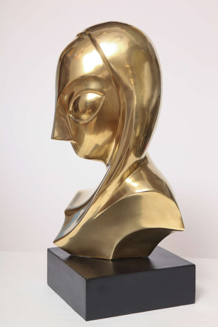 Sculpture, Brass, of a Woman's Head 3