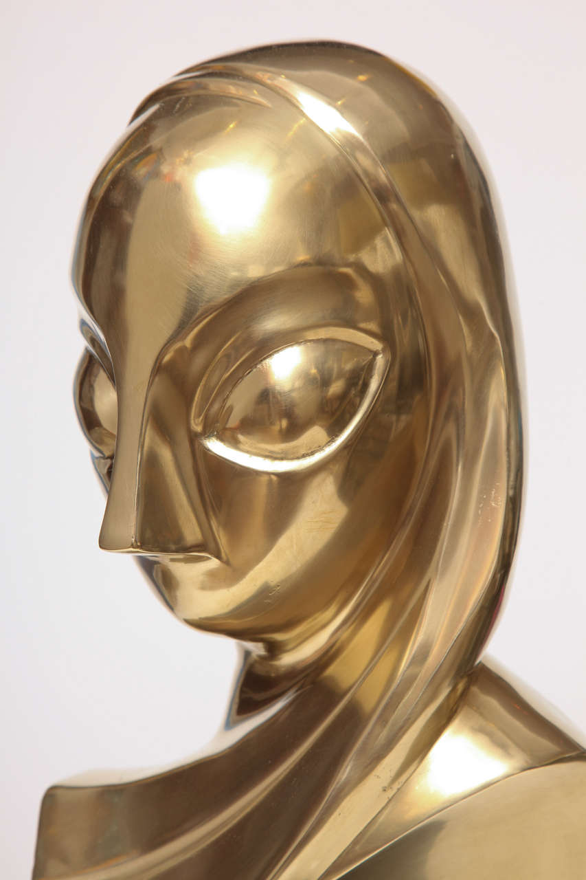 Sculpture, Brass, of a Woman's Head 4