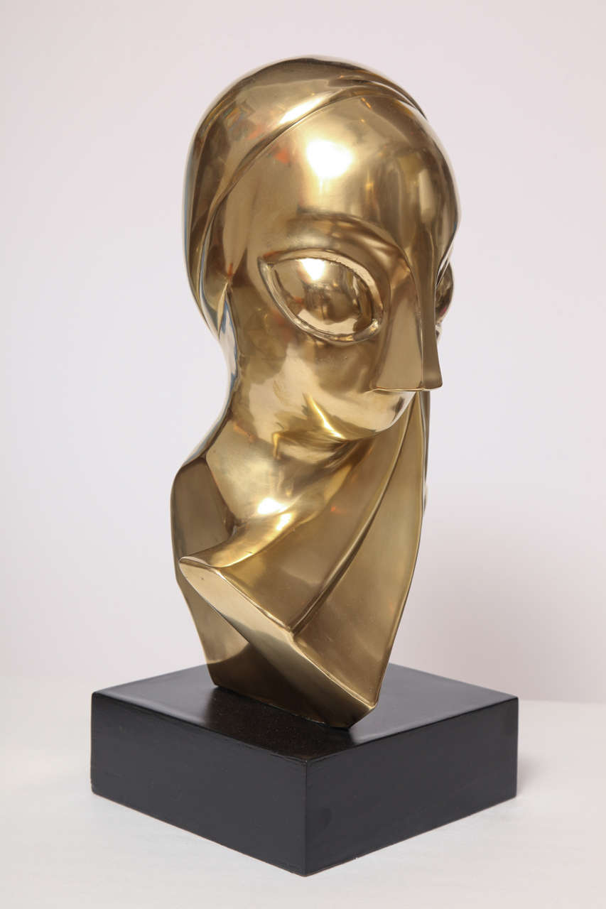 Sculpture, Brass, of a Woman's Head 6