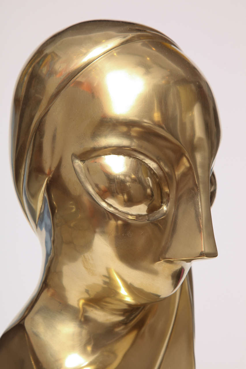 Sculpture, Brass, of a Woman's Head 7