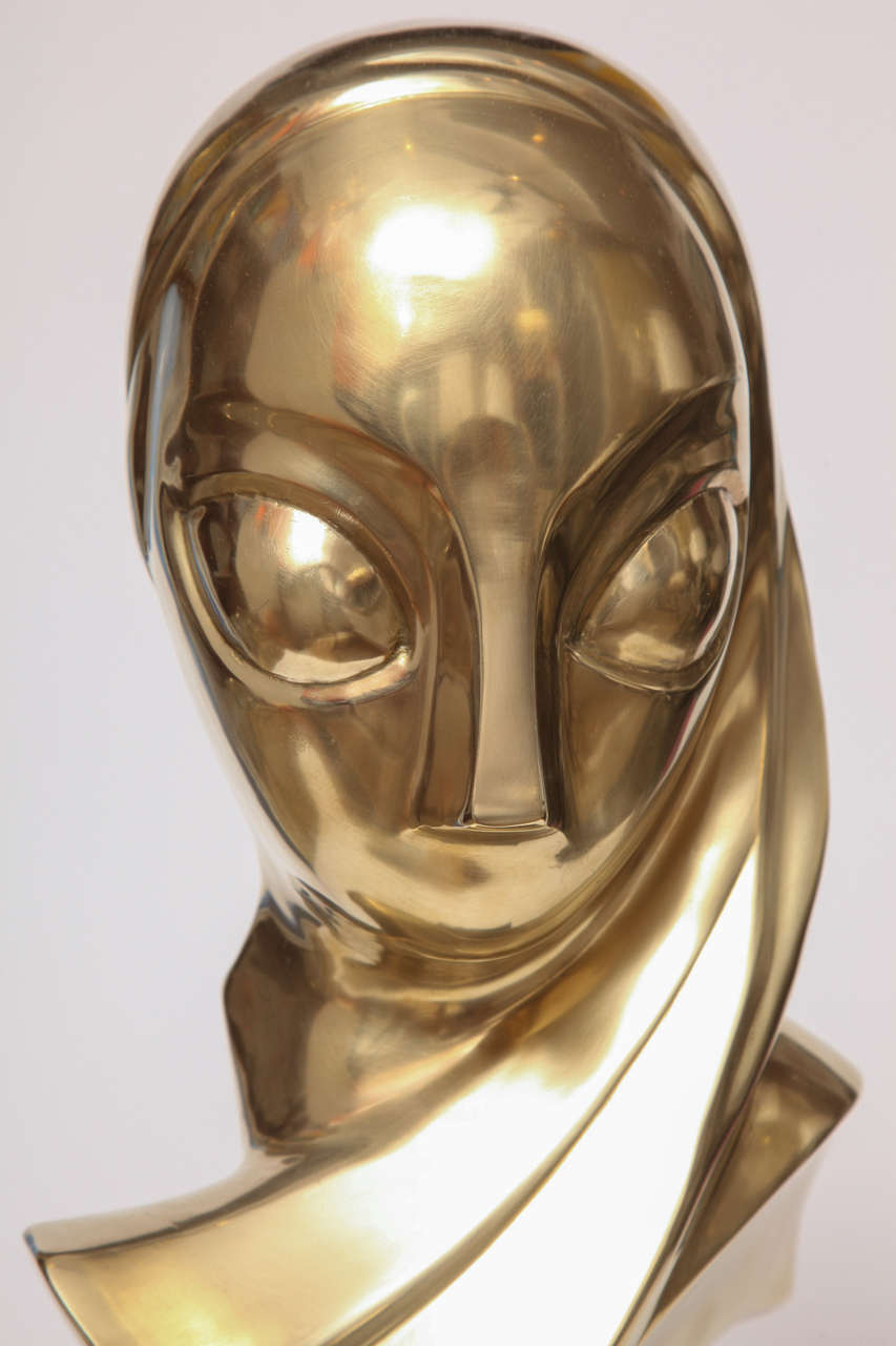 Sculpture, Brass, of a Woman's Head 8