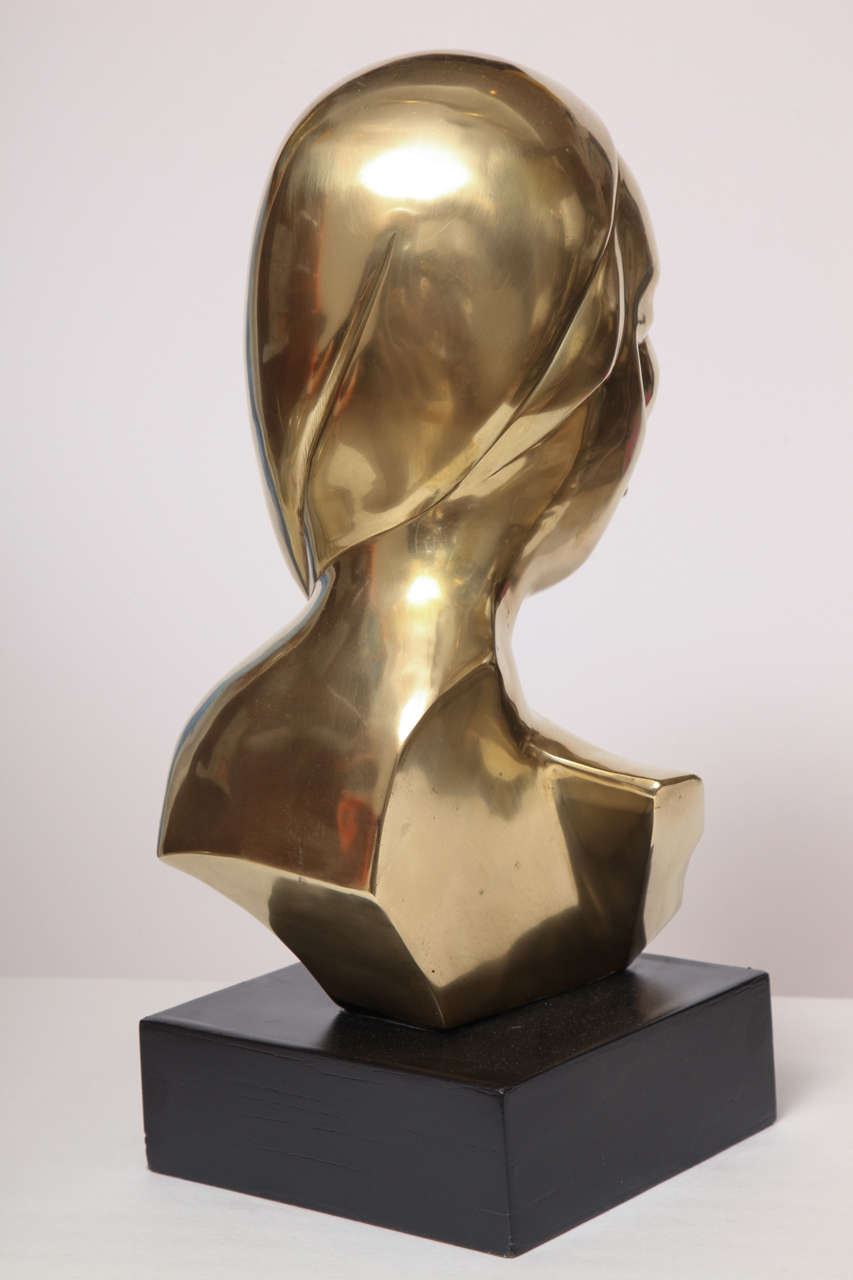 Sculpture, Brass, of a Woman's Head 9