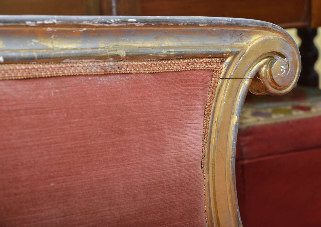 French Gilt Louis Xv Style Chaise Longue At 1stdibs