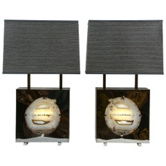 "Pair of Special Edition ""Pedra"" Table Lamps, Dragonette Private Label"