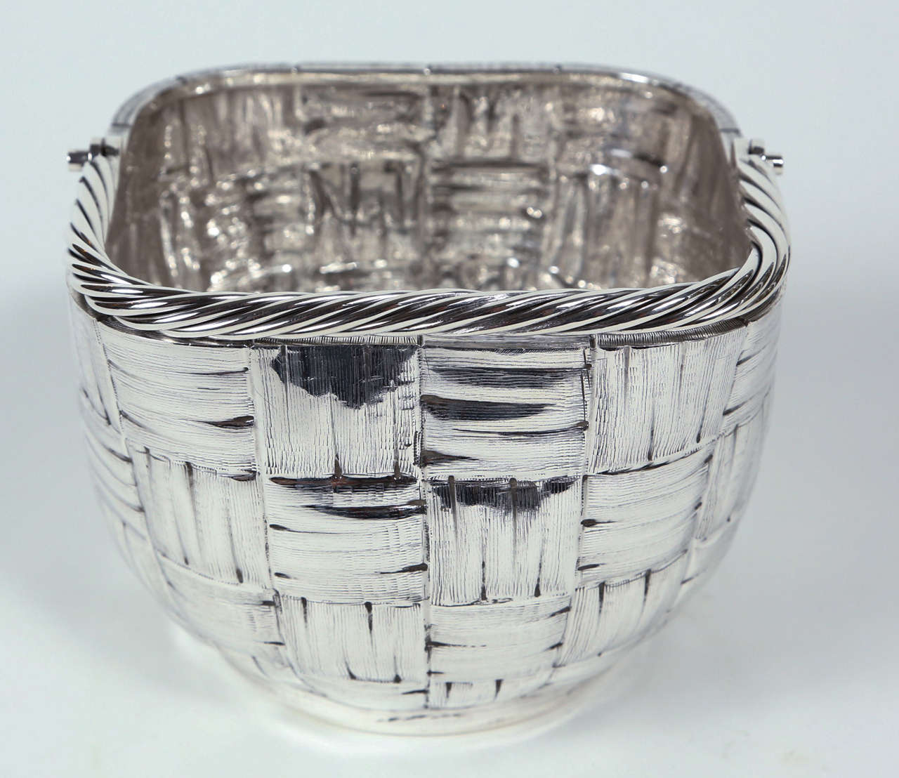 Italian Sterling Silver Basket By Fratelli Cacchione At