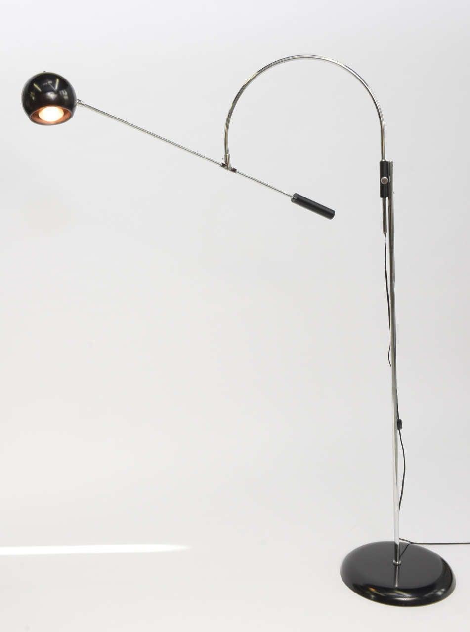 Large Robert Sonneman Orbiter Reticulating Floor Lamp For Sale 2