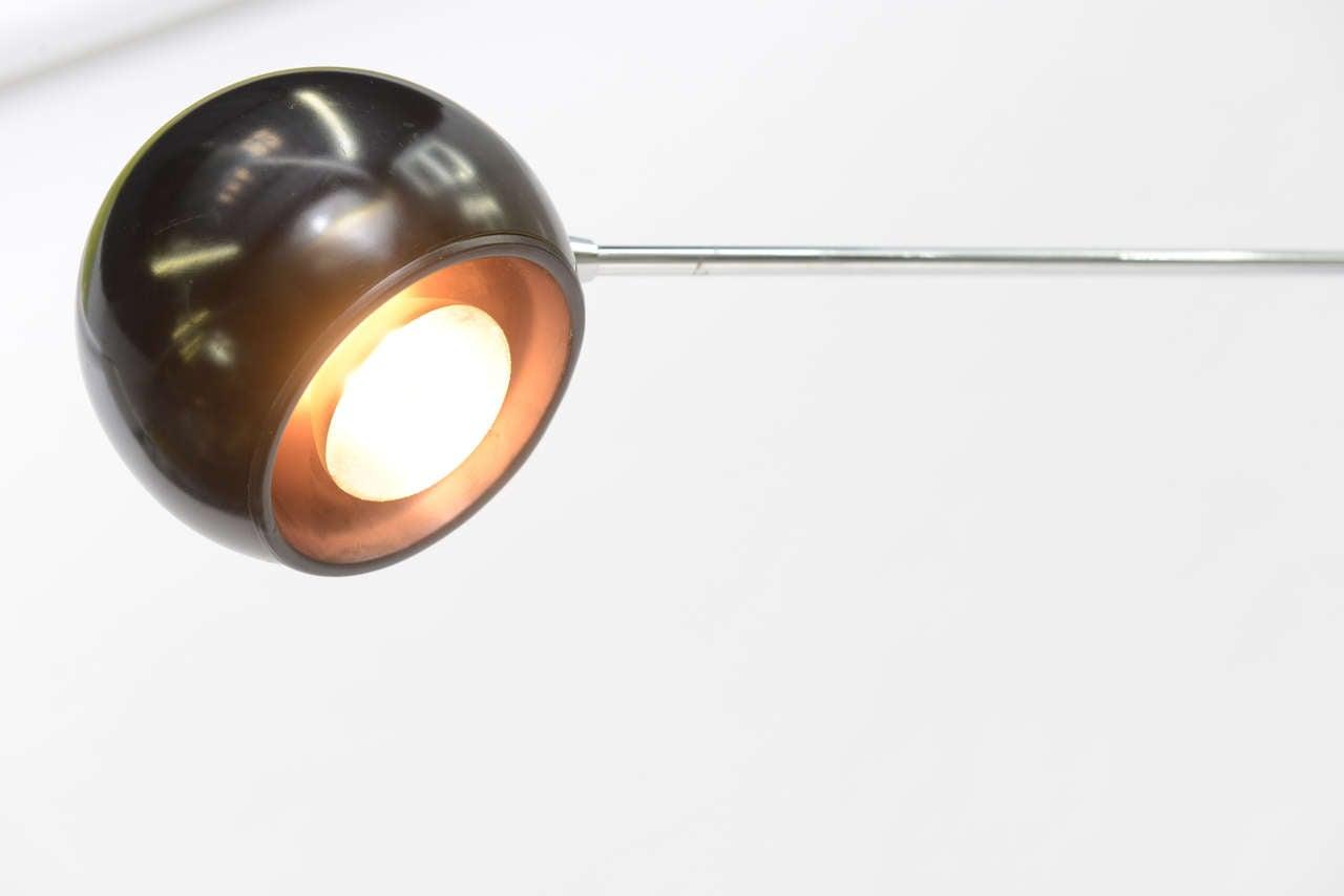 Large Robert Sonneman Orbiter Reticulating Floor Lamp For Sale 3