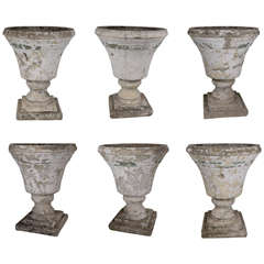 Set of 6 Massive Urns