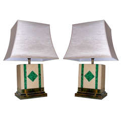 Two 1970s Lamps Signed by Jean-Claude Mahey