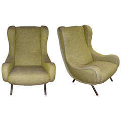 "Two 1950s ""Senior"" Armchairs by Marco Zanuso Edited by Ar Flex"