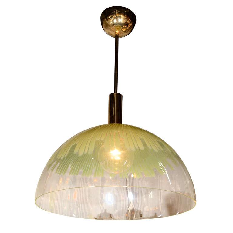 venini large glass dome pendant light by ludovico diaz de