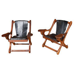 Pair of Don Shoemaker 'Sling' Folding Chair