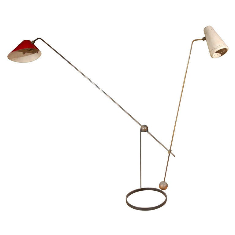 Pierre Guariche Equilibrium Floor Lamp For Sale