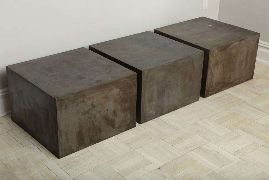 Concrete Block Forming A Coffee Table At 1stdibs