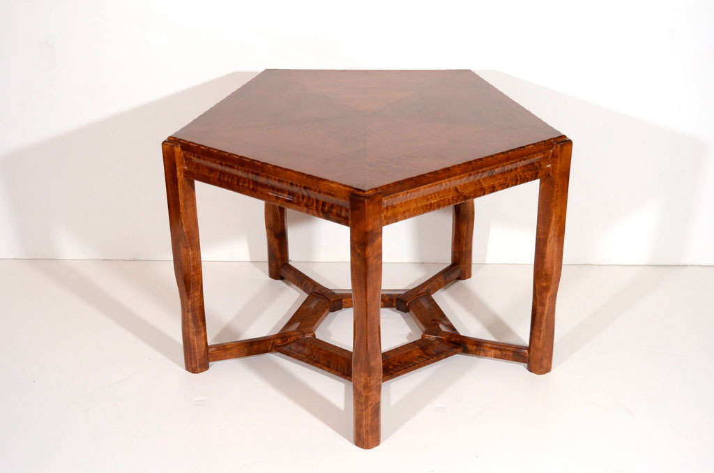 Jugendstil birchwood coffee table 