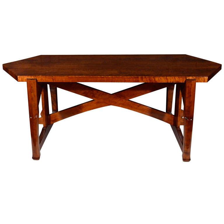 jugendstil birch dining table by lars isra l wahlman at 1stdibs