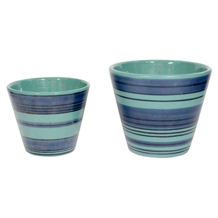 Set Of Italian Ceramic Pots For Raymor At 1stdibs