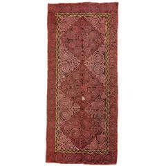 Vintage Embroidered Central Asian Felt Rug
