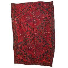 Vintage Central Asian Felt Rug