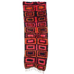 Vintage Kurdish Long Piled Tulu Rug