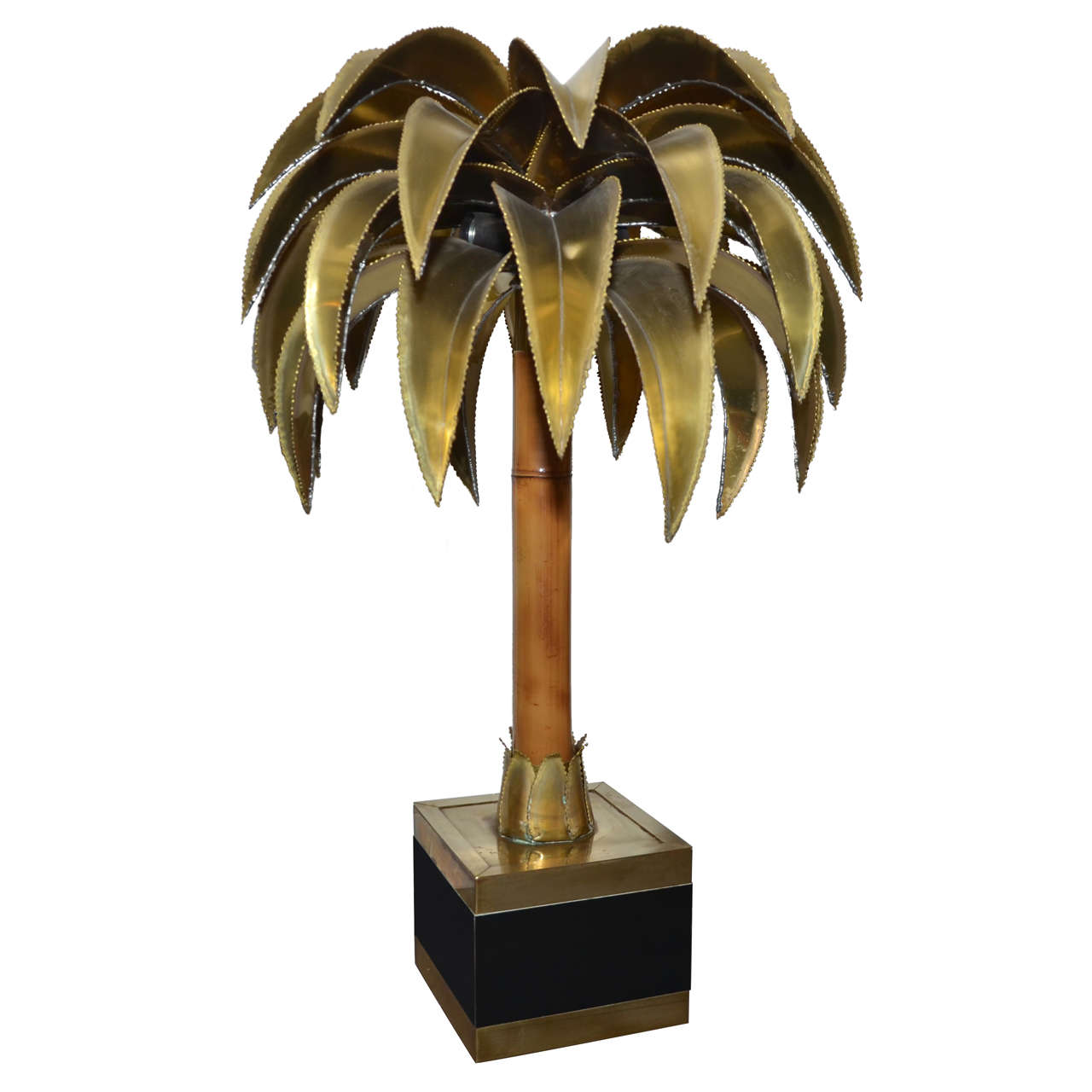 1970s palm tree lamp by maison jansen at 1stdibs. Black Bedroom Furniture Sets. Home Design Ideas
