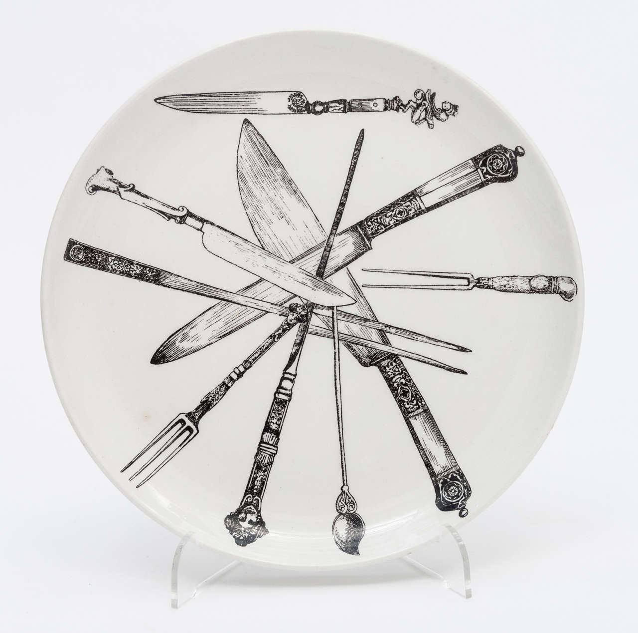 Early Set Of Six Plates By Piero Fornasetti At 1stdibs