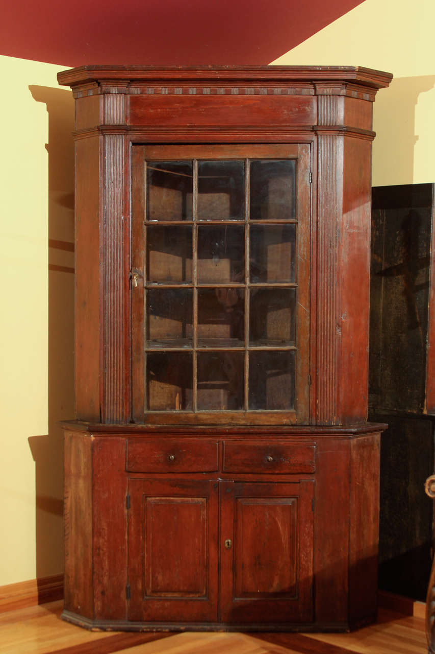 American 18th century corner cupboard at 1stdibs for 18th key of the door
