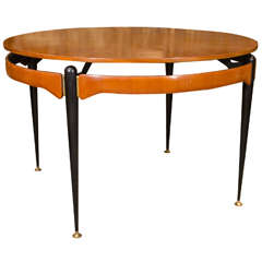 Round Oak Dining or Center Table