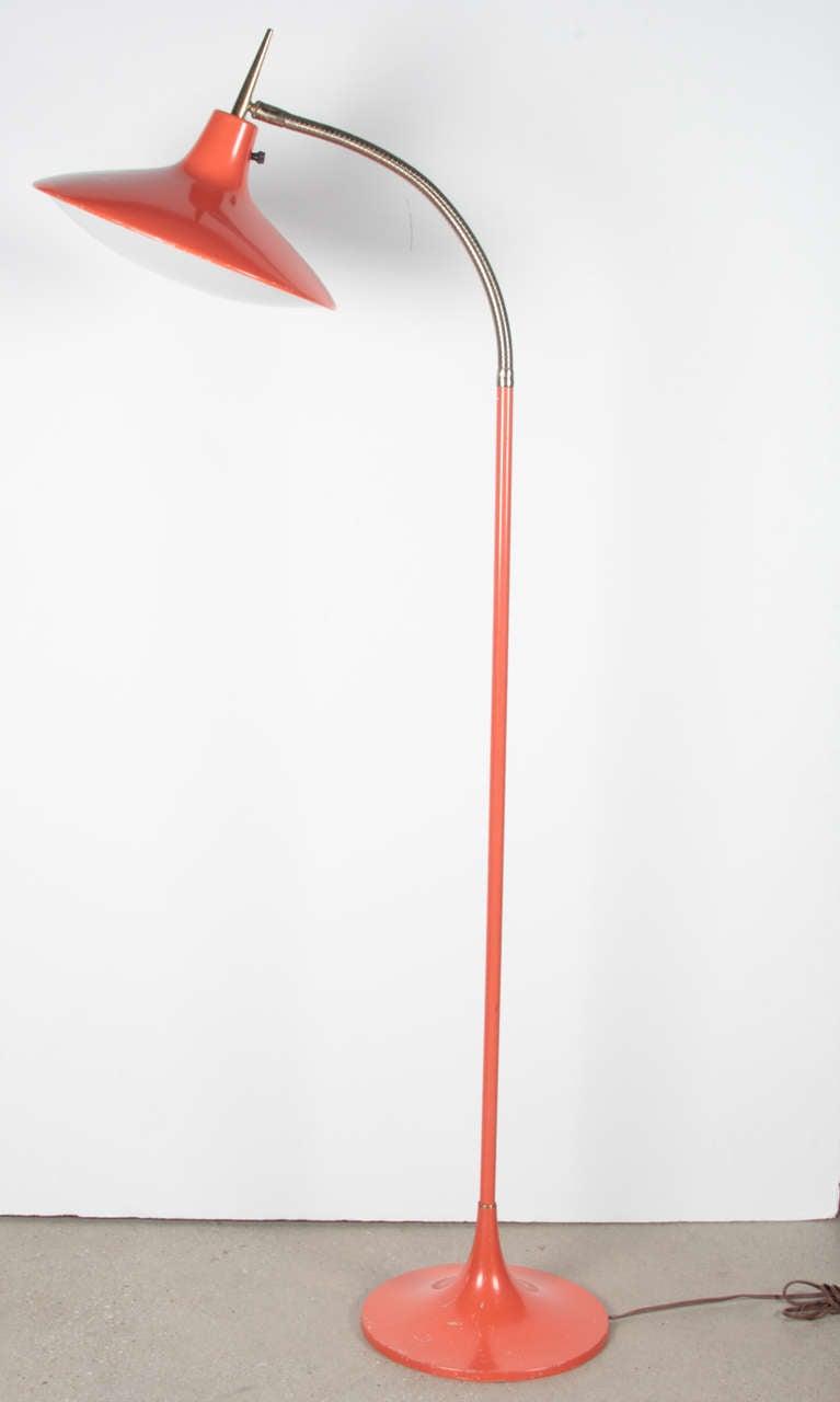 Orange Gooseneck Floor Lamp Laurel Stdibs