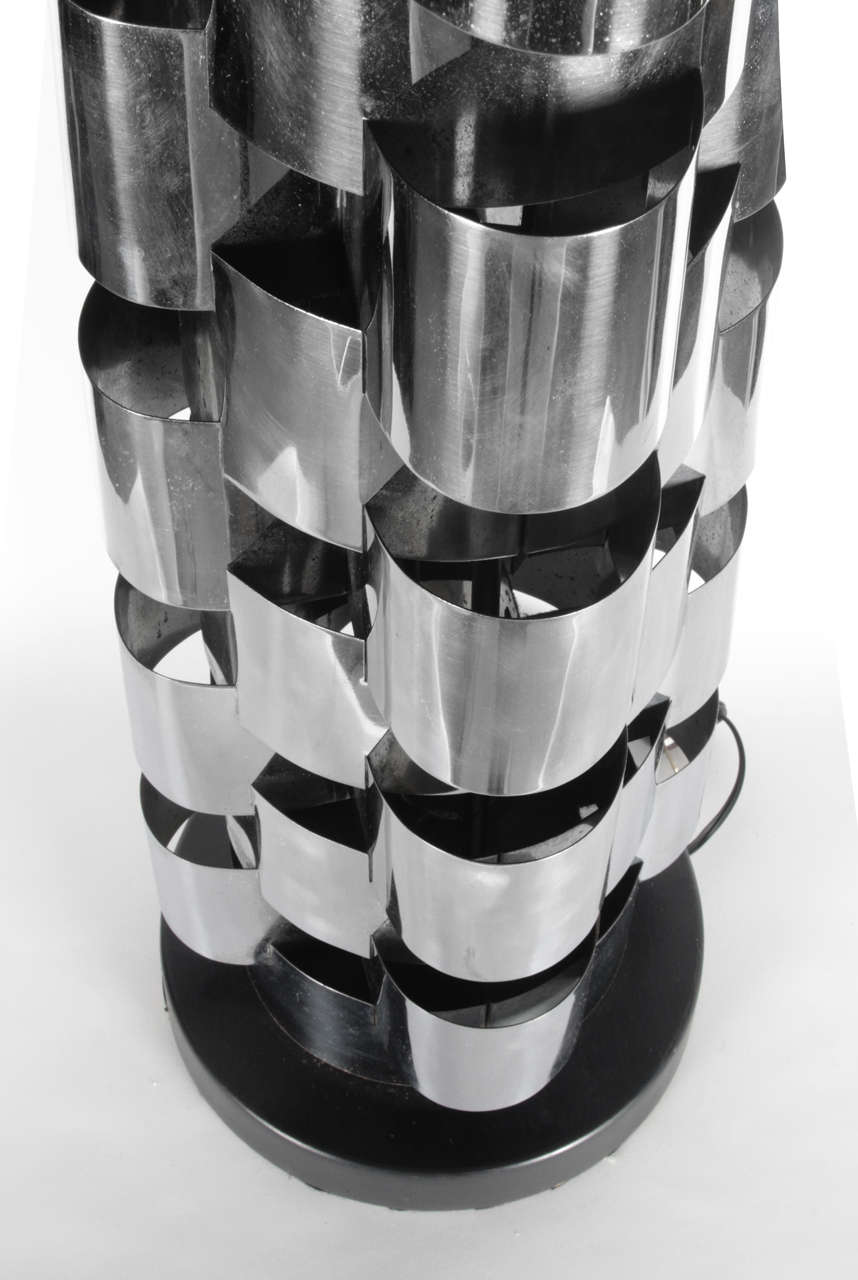 Chrome Tower Lamps By C Jere At 1stdibs