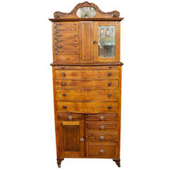 Late Victorian American Oak Dental Cabinet