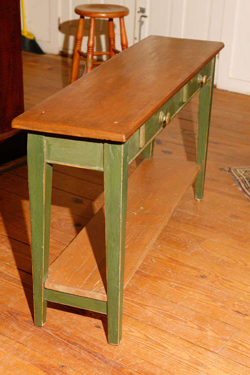 Canadian sofa table in green paint at 1stdibs for Sofa table canada
