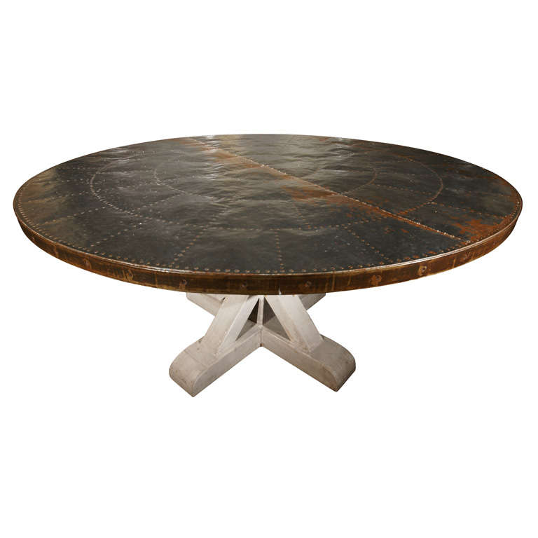 Zinc Topped Round Dining Table at 1stdibs : xDSC00169 from 1stdibs.com size 768 x 768 jpeg 30kB