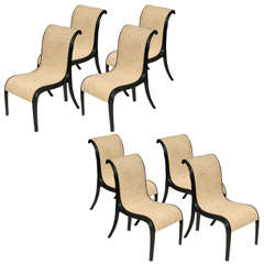 Rare Set of Eight Paul Frankl Skyscraper Dining Chairs