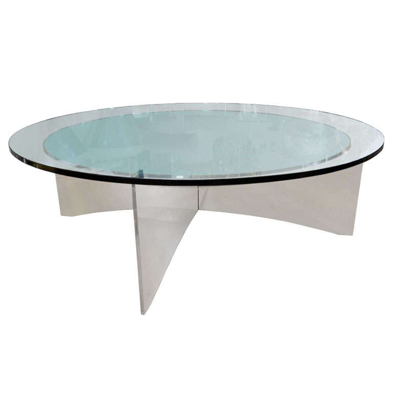 Unusual Concave Green Mercury Glass Coffee Table At 1stdibs