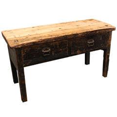 English Work Bench Table, Circa 1860