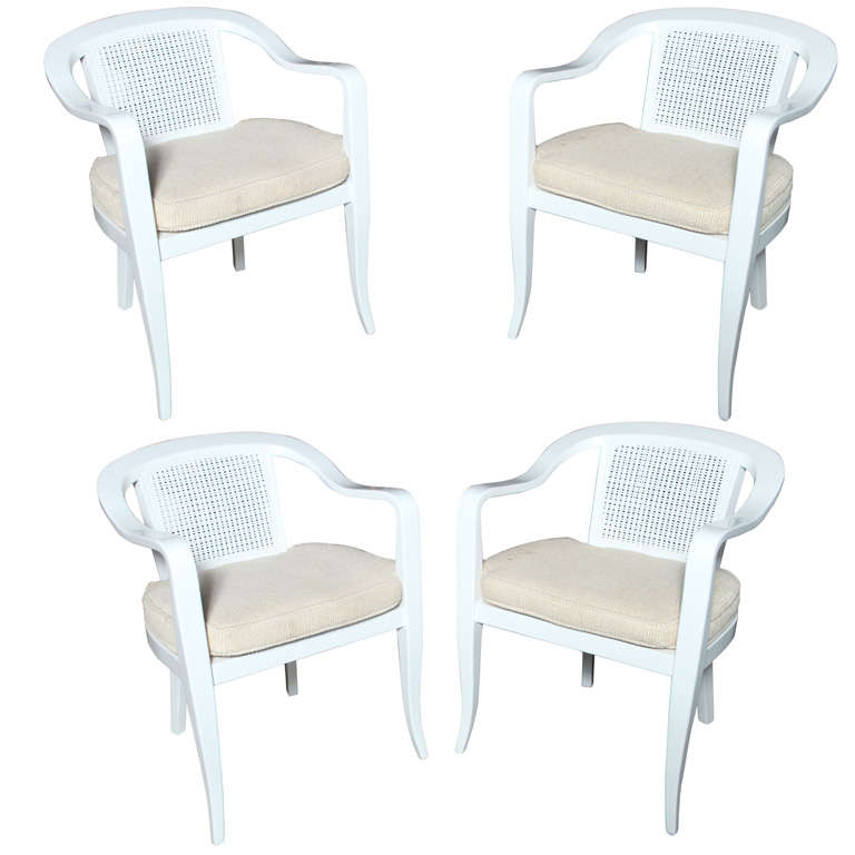 of 4 white lacquered solid maple wood chairs is no longer available