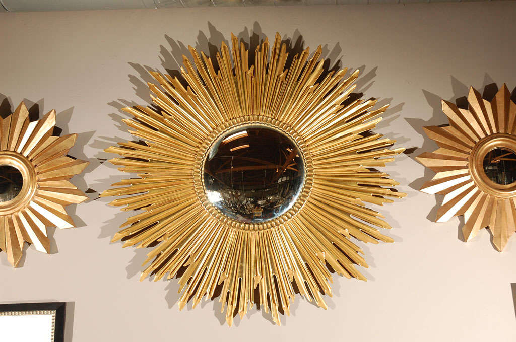 Large Gold Leaf Sunburst Mirror Image 2