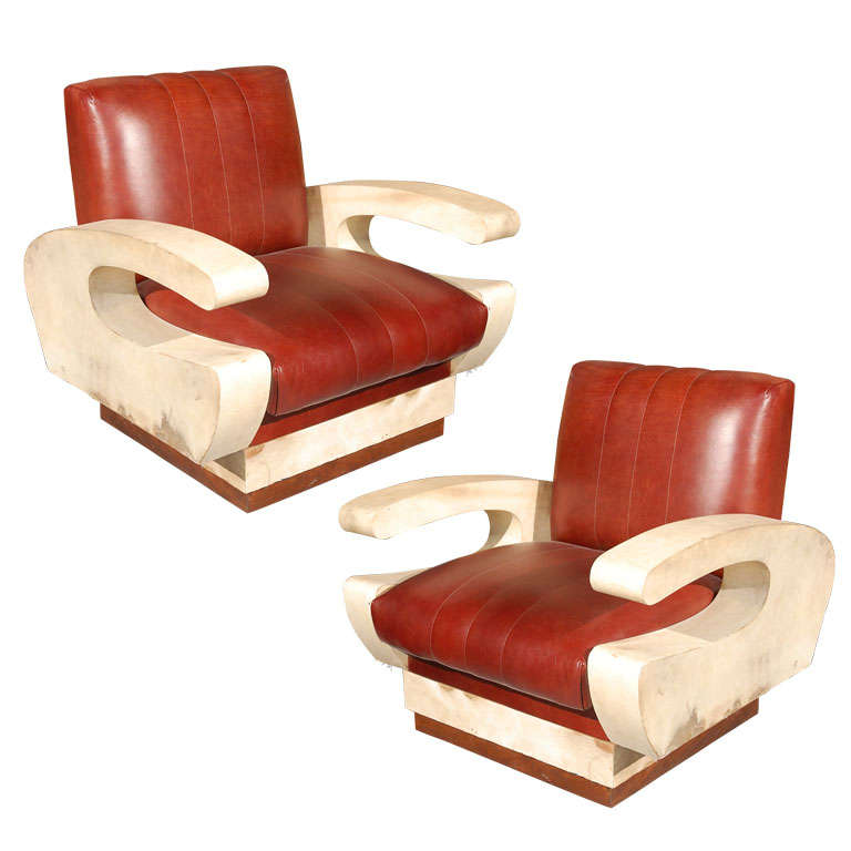 Pair of French Modernist Armchairs